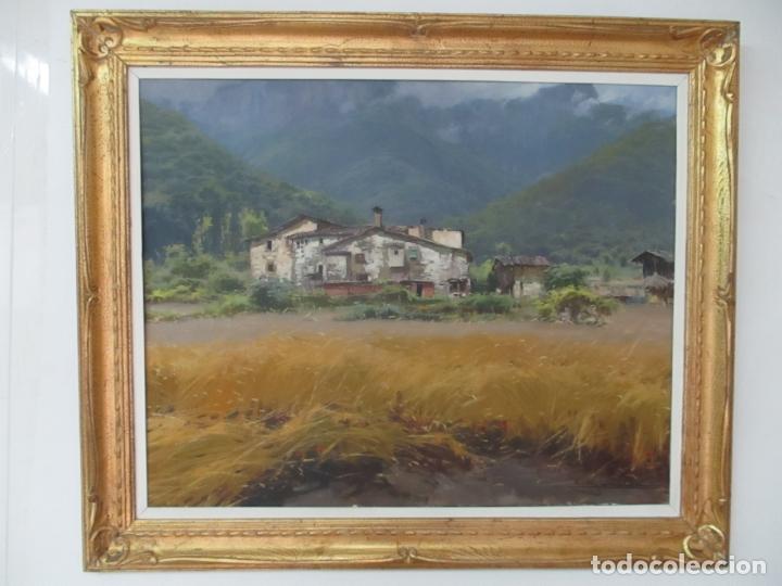ELÍAS GARRALDA ALZUGARAY (LESACA, 1926 - OLOT, 2012) - ÓLEO SOBRE TELA - PAISAJE (Arte - Pintura - Pintura al Óleo Moderna sin fecha definida)
