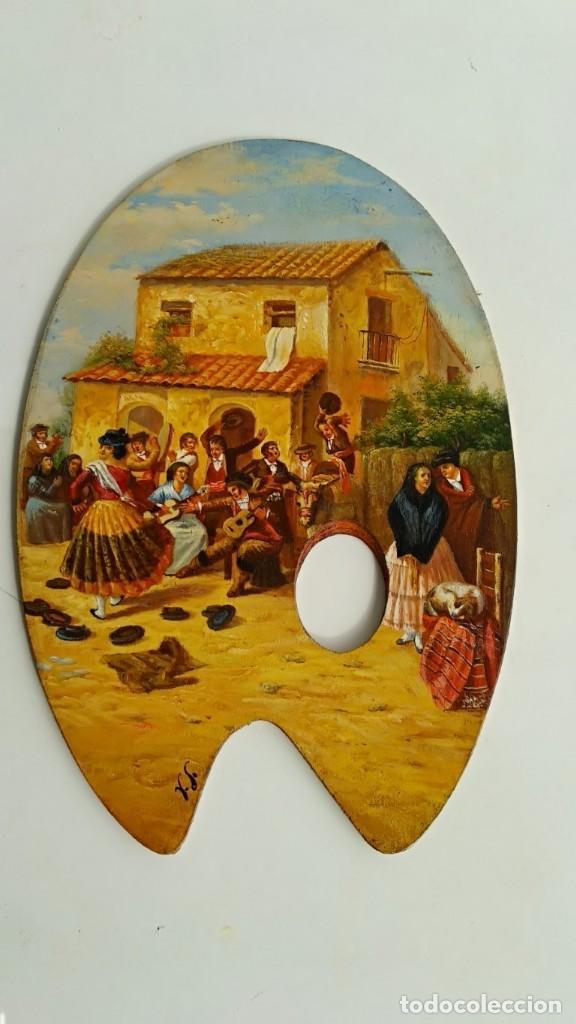 OLEO SOBRE TABLA, PALETA PINTOR (Arte - Pintura - Pintura al Óleo Moderna sin fecha definida)