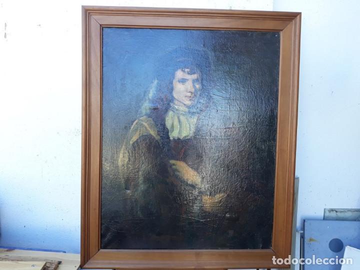 PINTURA DE COPIA DE REMBRANDT (Arte - Pintura - Pintura al Óleo Antigua sin fecha definida)