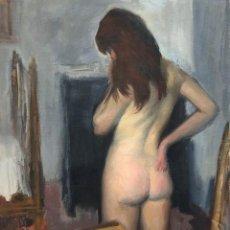 Arte: RAMON PICHOT SOLER (1924-1996) - DESNUDO FEMENINO DE ESPALDAS - ÓLEO SOBRE LIENZO. Lote 166177310