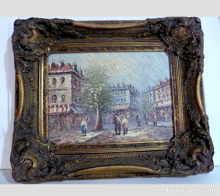 BURNETT, FANTASTICO PAISAJE OLEO DE PARIS (Arte - Pintura - Pintura al Óleo Contemporánea )