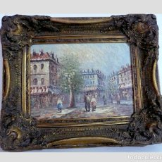 Arte: BURNETT, FANTASTICO PAISAJE OLEO DE PARIS. Lote 166182770