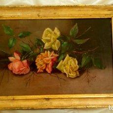 Arte: BODEGÓN DE FLORES. S. XIX.. Lote 166194626
