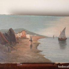 Arte: MARINA - ÓLEO SOBRE LIENZO - PRINCIPIOS SIGLO XX - FIRMADA. Lote 166199226