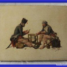 Arte: MAGNIFICO OLEO SOBRE TABLA FIRMADO R P FERNANDEZ S. XIX. Lote 166234630