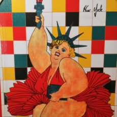 Arte: TONY POLONIO: MARILYN MONROE N.Y. LIBERTY. TIPO BOTERO. OBRA ORIGINAL DE AUTOR POP ART ESPAÑA 1980S. Lote 166266436