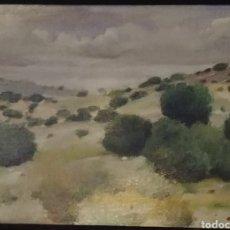 Arte: PAISAJE CARLOS LAHARRAGUE OLEO 23,5X 18 CM. Lote 166317740