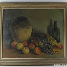 Arte: A-270. OLEO SOBRE LIENZO, BODEGON. FIRMADO . S.XIX.. Lote 166412618