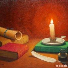 Arte: FRANCESC DOMINGO (1895 - 1974) OLEO SOBRE TABLA DE LOS AÑOS 50. BODEGON. Lote 166456930