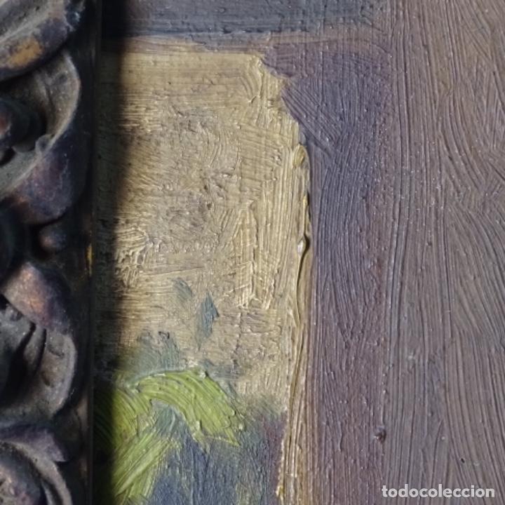 Arte: Oleo sobre cartón duro de Joan vila puig.dedicado a Blay nart.falta limpieza. - Foto 10 - 166466110
