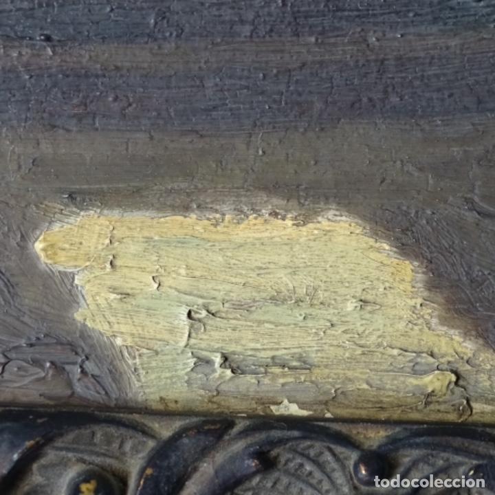 Arte: Oleo sobre cartón duro de Joan vila puig.dedicado a Blay nart.falta limpieza. - Foto 11 - 166466110