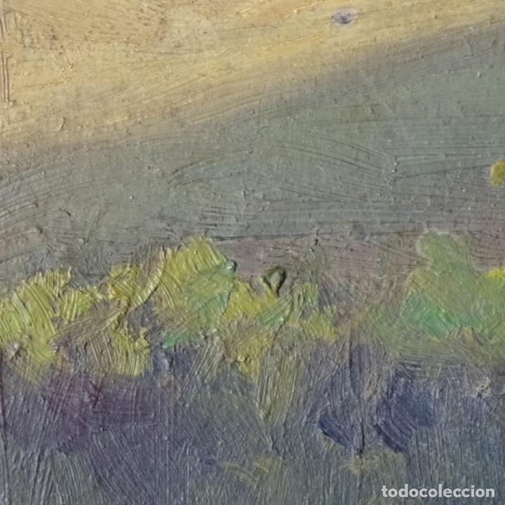Arte: Oleo sobre cartón duro de Joan vila puig.dedicado a Blay nart.falta limpieza. - Foto 12 - 166466110