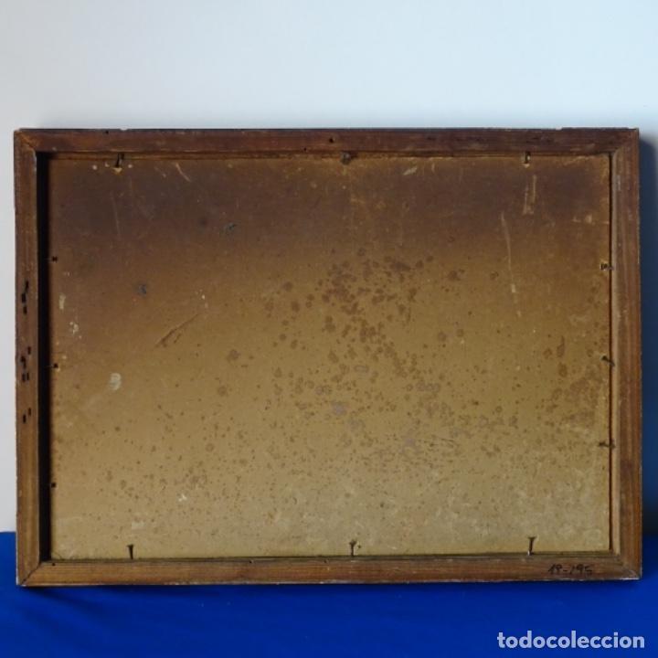 Arte: Oleo sobre cartón duro de Joan vila puig.dedicado a Blay nart.falta limpieza. - Foto 13 - 166466110