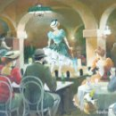 Arte: ESCENA DE CABARET. ÓLEO SOBRE TABLA. FIRMADO JOAN ALBERT. CIRCA 1980.. Lote 166488466