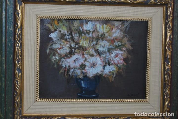 Arte: ANTONIO CAMPOS - ÓLEO SOBRE TABLA - FLORES - SANTANDER - Foto 2 - 166596018