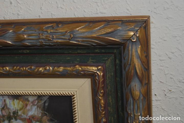 Arte: ANTONIO CAMPOS - ÓLEO SOBRE TABLA - FLORES - SANTANDER - Foto 4 - 166596018