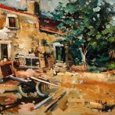 Arte: JOAN SERRA MELGOSA (LLEIDA,1899 - BARCELONA,1970) OLEO SOBRE TELA. CASA DE CAMPO. AÑO 1964. Lote 166662838