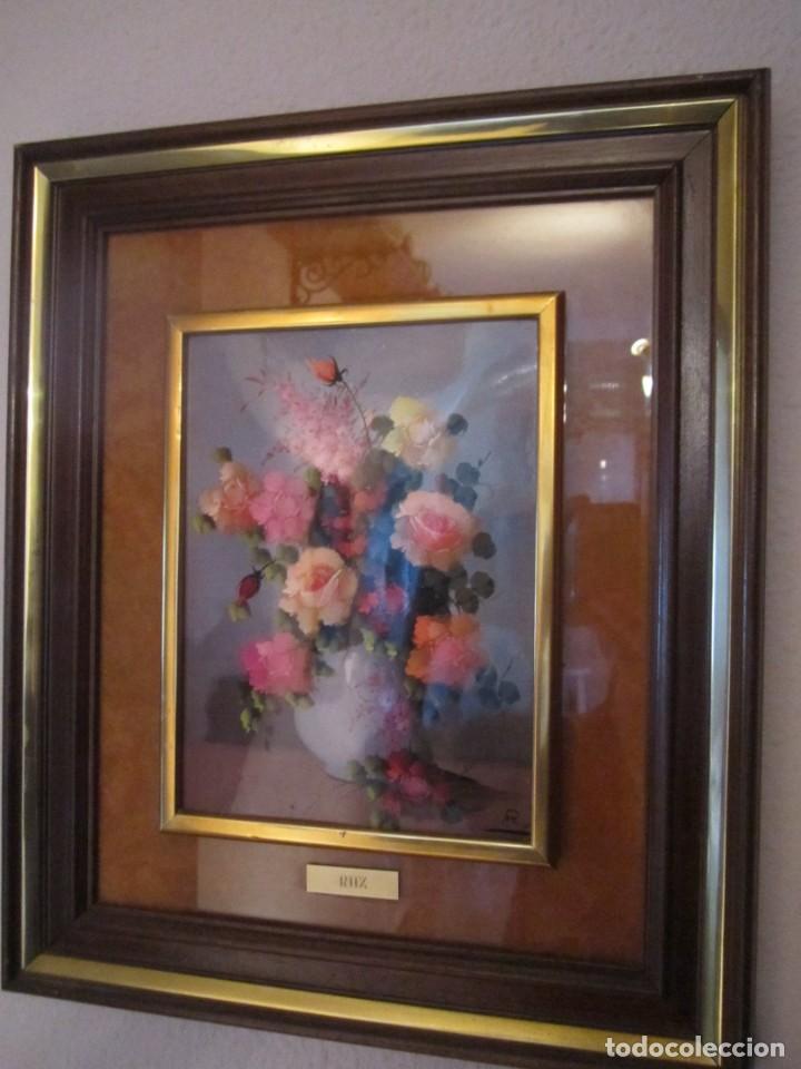 CUADRO PINTADO AL ÓLEO 35 X 42 CM CON MARCO DE MADERA (Arte - Pintura - Pintura al Óleo Contemporánea )