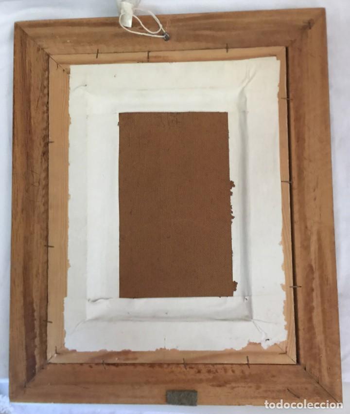Arte: OLEO SOBRE TABLA FIRMADO Y FECHADO ESCENA ALAMEDA - Foto 9 - 166735362
