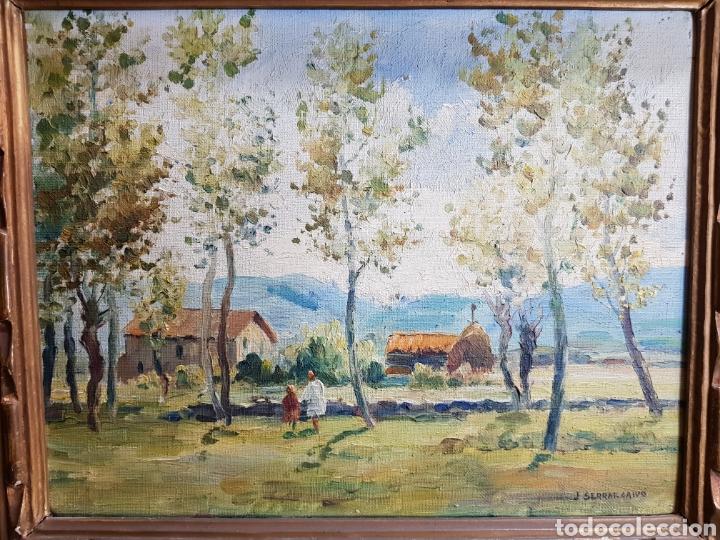 PAISAJE POR J. SERRAT CALVÓ (Arte - Pintura - Pintura al Óleo Contemporánea )