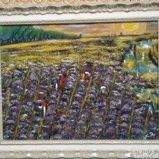 Arte: LAVANDA EN CAMPOS VAN GOGH. Lote 166812468