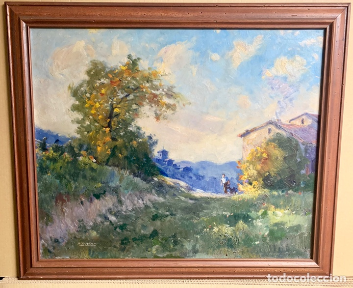 ALFONS GUBERN CAMPRECIÓS (1916-1980) 72X59 CM OBRA, CASTELLAR DEL VALLES (Arte - Pintura - Pintura al Óleo Contemporánea )