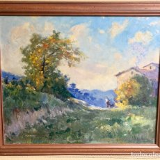 Arte: ALFONS GUBERN CAMPRECIÓS (1916-1980) 72X59 CM OBRA, CASTELLAR DEL VALLES. Lote 166840902