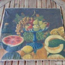Arte: PINTURA AL OLEO SOBRE LIENZO BODEGON FIRMADO. Lote 166859984