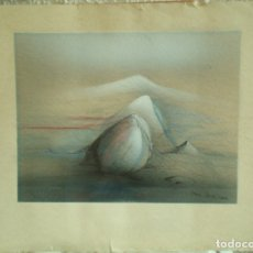 Arte: IRENA DEDICOVA, TÉCNICA ACRÍLICO, AERÓGRAFO, SOBRE CARTULINA, PAISAJE. Lote 166864284