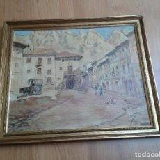 Arte: OLEO SOBRE TABLA -- CUADRO -- AMBIENTE RURAL -- S. MARTÍN. Lote 166921516