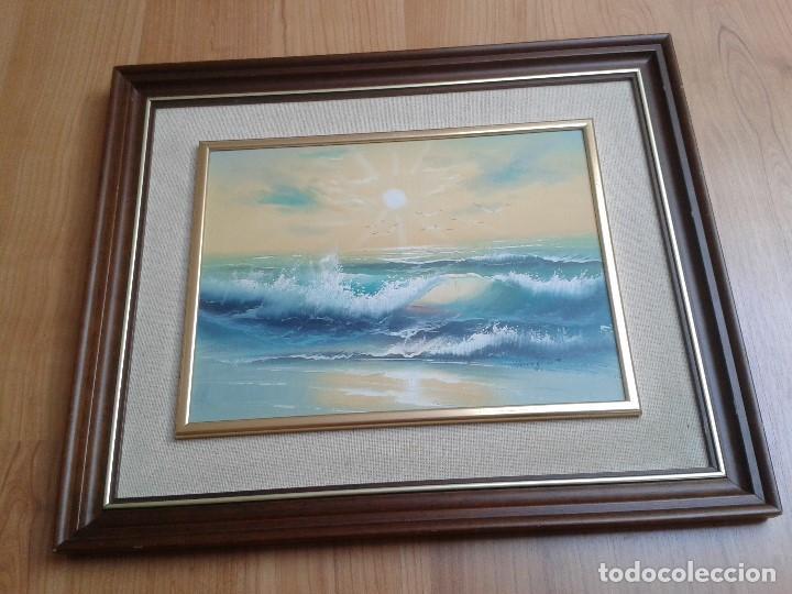 OLEO SOBRE TABLA -- CUADRO -- AGUAS BRAVAS -- MAR -- OCÉANO -- HARRY (Arte - Pintura - Pintura al Óleo Moderna sin fecha definida)