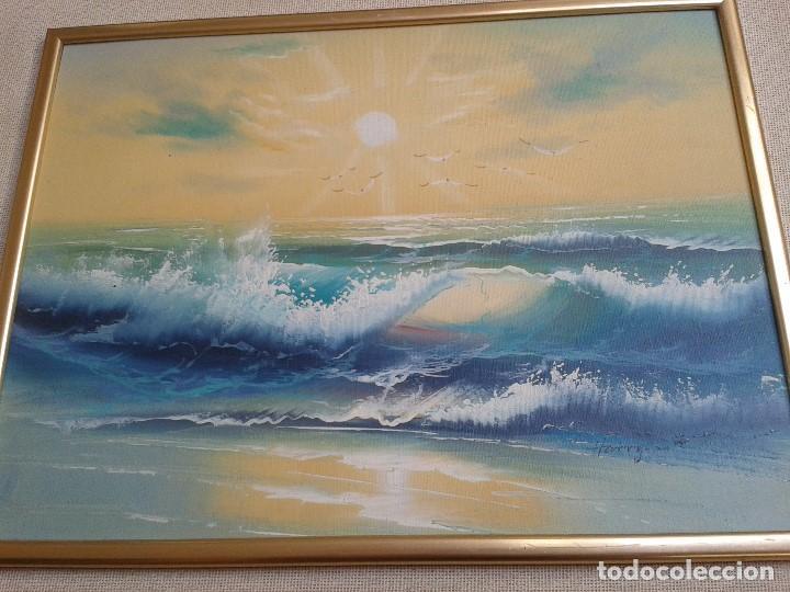 Arte: Oleo sobre tabla -- Cuadro -- Aguas bravas -- Mar -- Océano -- Harry - Foto 2 - 166922616
