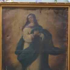 Arte: ESPECTACULAR INMACULADA CON MODELO GITANA. SIGLO XIX 60X82 CM. TOTAL 67X89.. Lote 166921696