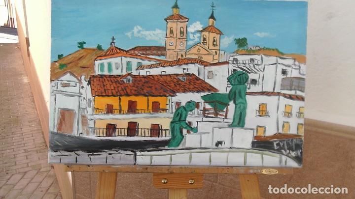 ALBUÑOL.-ÓLEO SOBRE LIENZO 40X60 CM. DE CRESPO (Arte - Pintura Directa del Autor)