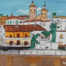 Arte: ALBUÑOL.-ÓLEO SOBRE LIENZO 40X60 CM. DE CRESPO. Lote 166967480
