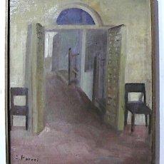 Arte: A.PORCEL, OLEO SOBRE LIENZO CON BASTIDOR, FIRMADO. Lote 167018964