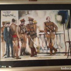 Arte: RAMON AGUILAR MORE (BARCELONA, 1924 - 2015) TECNICA MIXTA TEMA. MILITAR. Lote 166920208