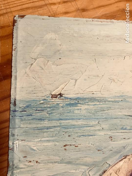 Arte: OLEO TABLA VISTA COSTA BARCAS FIRMA A. CANELA ALMAZARA EN TRASERA MITD S XX 33,5X45,5CMS - Foto 24 - 167108944