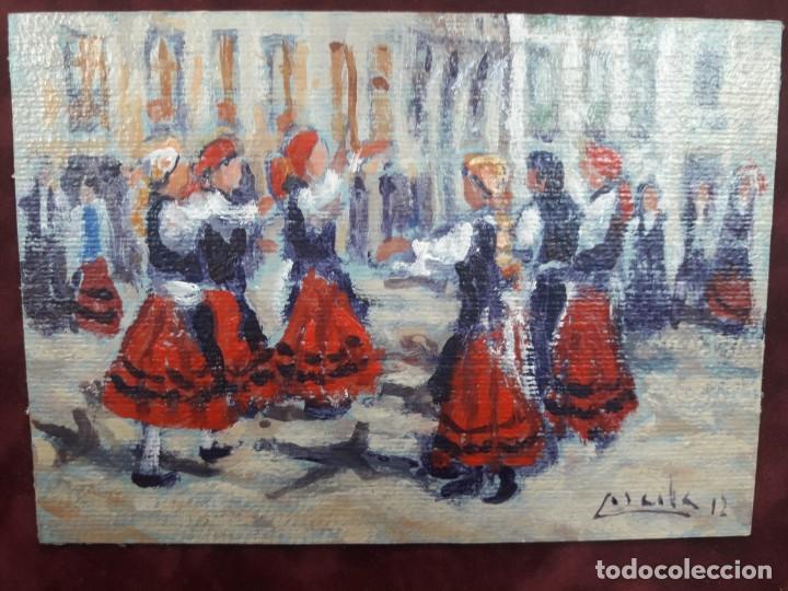 Arte: Oleo sobre cartón fdo. Corcoba - Foto 2 - 167207776