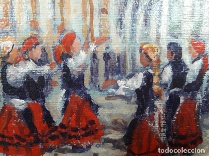 Arte: Oleo sobre cartón fdo. Corcoba - Foto 4 - 167207776