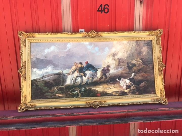 CUADRO PESQUERO PAN DE ORO ÓLEO 1,41X75 (Arte - Pintura - Pintura al Óleo Moderna sin fecha definida)