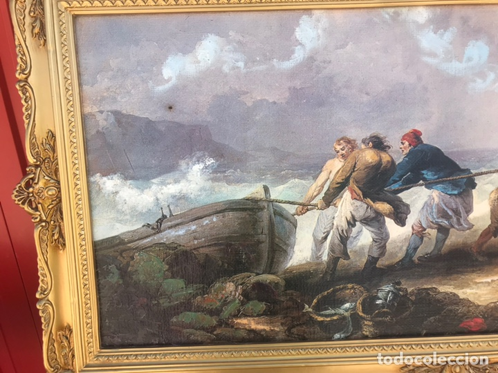 Arte: Cuadro pesquero pan de oro óleo 1,41x75 - Foto 2 - 167504377