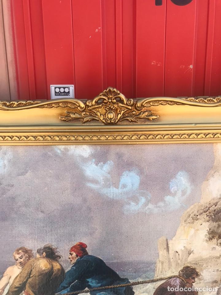 Arte: Cuadro pesquero pan de oro óleo 1,41x75 - Foto 4 - 167504377