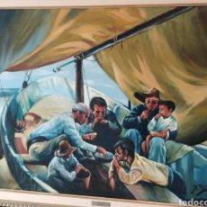 Arte: CUADRO: PESCADORES COMIENDO. Lote 167517796