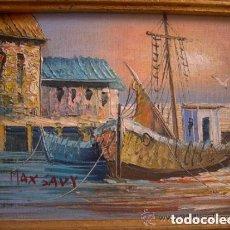 Arte: PRESTIGIOSO ÓLEO ORIGINAL SOBRE LIENZO PINTURA DEL ARTISTA FRANCÉS MAX SAVY (1918-2010). Lote 167527260