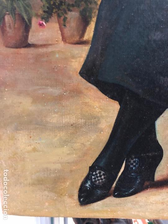 Arte: MAGNIFICO OLEO SOBRE LIENZO RETRATO POR EL PINTOR GADITANO R. DEL CASTILLO Y MARTINEZ - CADIZ 1924 - Foto 2 - 167530292