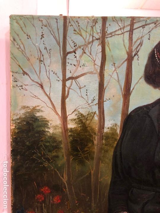 Arte: MAGNIFICO OLEO SOBRE LIENZO RETRATO POR EL PINTOR GADITANO R. DEL CASTILLO Y MARTINEZ - CADIZ 1924 - Foto 3 - 167530292