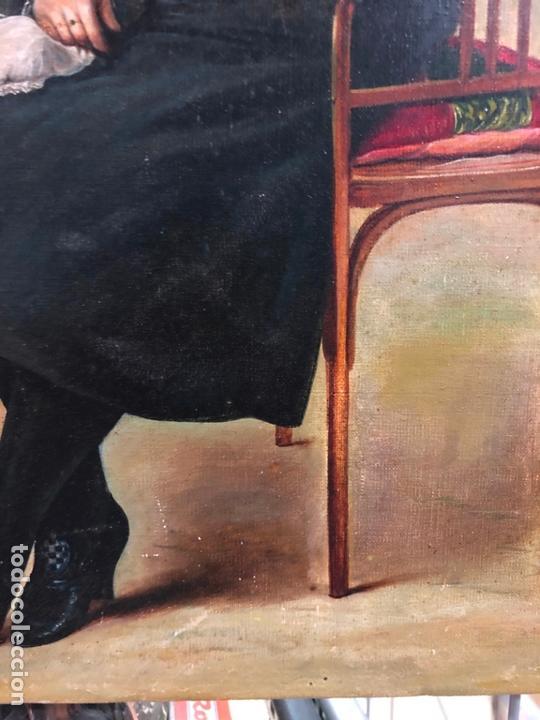 Arte: MAGNIFICO OLEO SOBRE LIENZO RETRATO POR EL PINTOR GADITANO R. DEL CASTILLO Y MARTINEZ - CADIZ 1924 - Foto 4 - 167530292