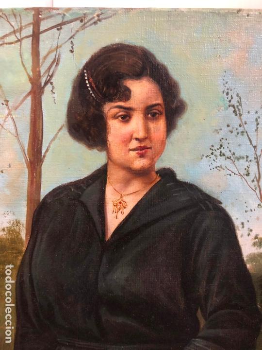 Arte: MAGNIFICO OLEO SOBRE LIENZO RETRATO POR EL PINTOR GADITANO R. DEL CASTILLO Y MARTINEZ - CADIZ 1924 - Foto 5 - 167530292