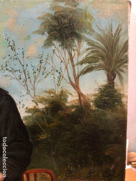 Arte: MAGNIFICO OLEO SOBRE LIENZO RETRATO POR EL PINTOR GADITANO R. DEL CASTILLO Y MARTINEZ - CADIZ 1924 - Foto 7 - 167530292